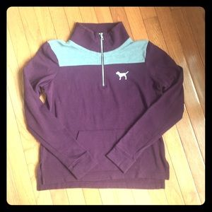 NWOT VS PINK 1/4 Zip Sweatshirt Shep Shirt Loose